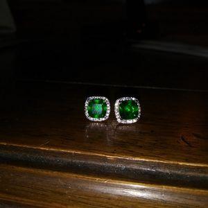 Jewelry - Emerald & Diamond Earrings